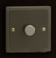 Varilight 1 Gang 1 or 2 Way 400W Push on/off Dimmer Light Switch Graphite 21 HP3